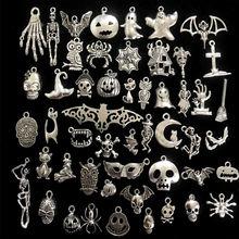50 шт Подвески на Хэллоуин смешанные призрак тыква летучая мышь