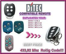 Ditec GOL4, Ditec BIXLP2 compatible remote control transmitter / CLONE 433,92Mhz ditec gol4 bixlp2 bixls2 bixlg4 replacement remote control free shipping