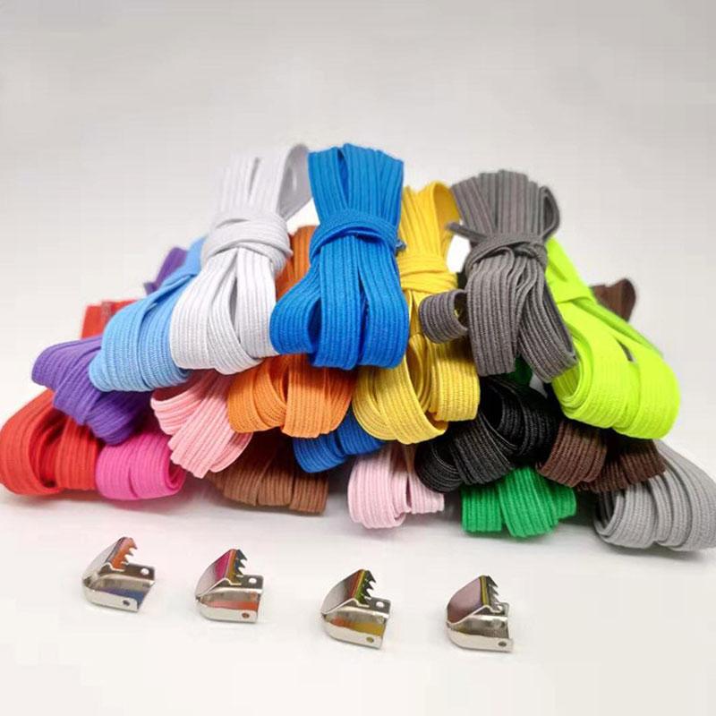 1 Pair Free Tie-free Shoelace Stretch Elastic Lazy Shoelaces Flat Shoe Laces Shoe Lace Strings Sneakers Sport Shoelace