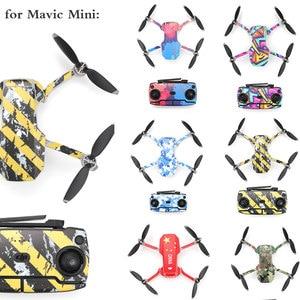 Image 1 - DJI Mavic 미니 드론 바디 암 방수 스크래치 방지 데칼 셸 커버 다채로운 피부에 대 한 보호 필름 PVC 스티커