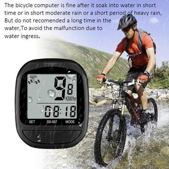 цена на MTB Road Bike Computer Cycling Computers Bicycle Speedometer Wireless Waterproof Stopwatch Odometer LCD Backlight Black