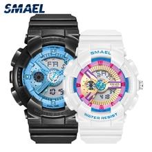 Watch-Pair Sport Waterproof Women Lovers And SMAEL for 8026 50M Shock-Resistant Dual-Display