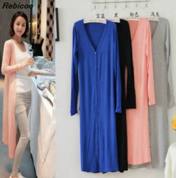 2019 Korean version of the spring and summer long section of the sun protection clothing long sleeved thin coat bottoming shirt in Cardigans from Women 39 s Clothing