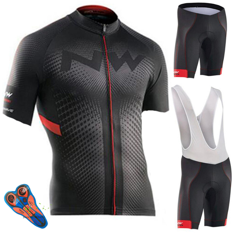 Northwave Cycling Clothing Men's Triathlon Clothing Short Sleeve Breathable Summer Cycling Set Ropa Ciclismo Hombre Cycling Kit