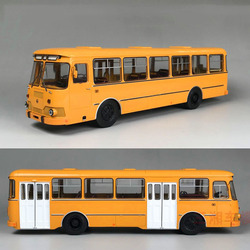 1/43 Russian bus 677M bus alloy bus model toy model gift collection