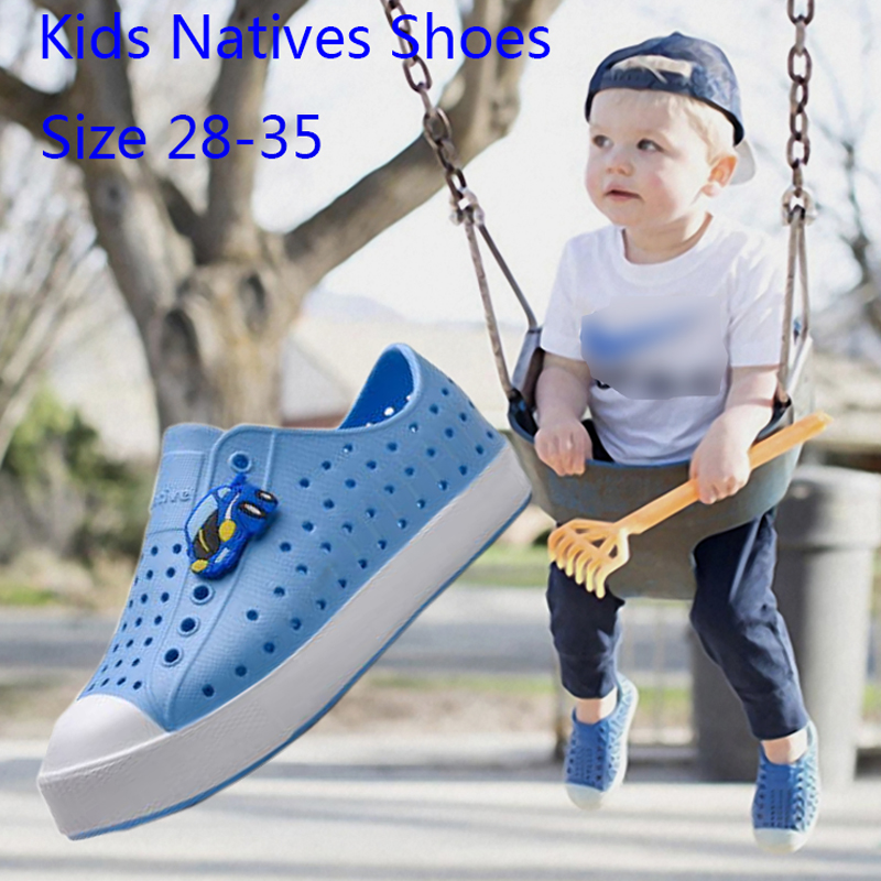Children Wnc Native Shoes Summer Clog Shoes Scarpe Boys Girls Garden Shoes Beach Hollow Mules Clogs Candy Color Sandals