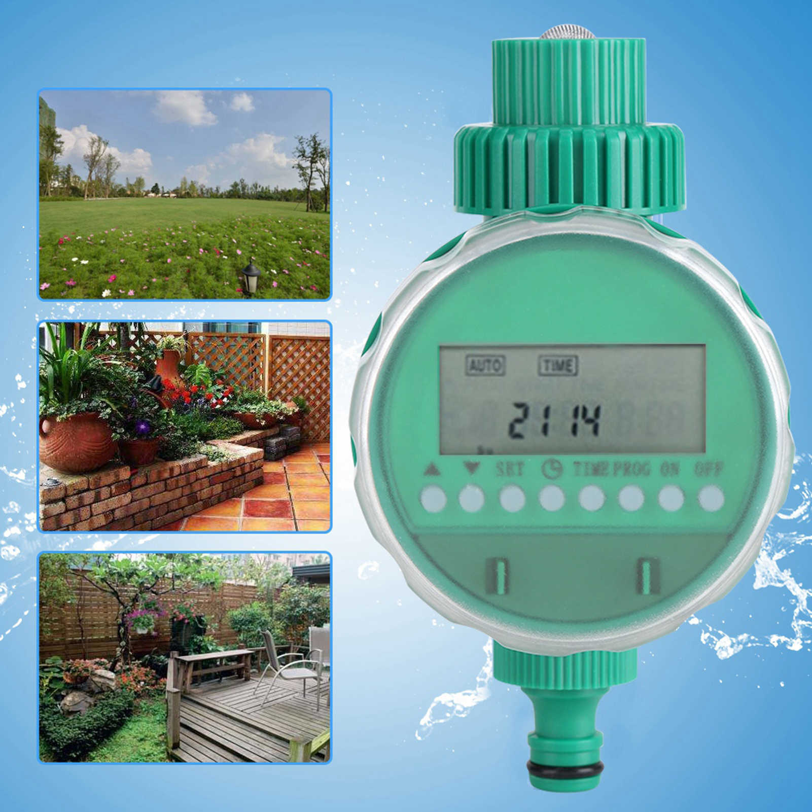 Alinory Irrigation Timer Electronic Smart Garden Auto Water Irrigation Timer Controller Sprinkler with LCD Display