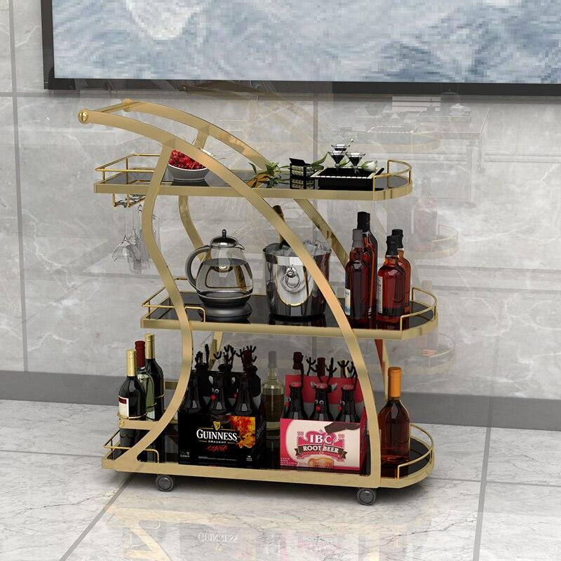 KTV Three-layer Trolley, Tea And Beverage, Cake And Parcel Shelf, Hotel Restaurant Ca