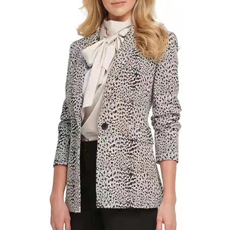 H0fc102da5b3148a49b1e28755b8089b6m Fashion Trend Women Lapel Leopard Print Long Sleeves Suit Jacket Elegant Fall Winter Office Lady Cardigan Coat Casual Streetwear