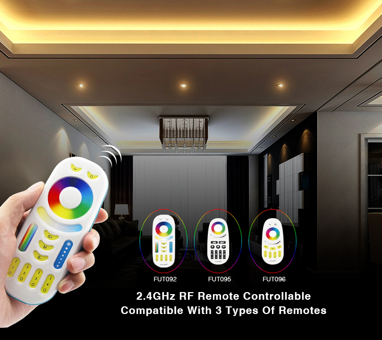 Image 5 - DC12 24V Mi Light Wireless 10A 2.4G 4 Zone RF Wireless RGBW LED remote WIFI Controller Dimmer For 5050 3528 Led Strip Light bulb-in RGB Controlers from Lights & Lighting