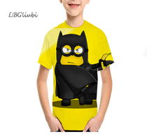 LBG new hero Batman childrens T-shirt 3D print teen fashion kids short sleeve