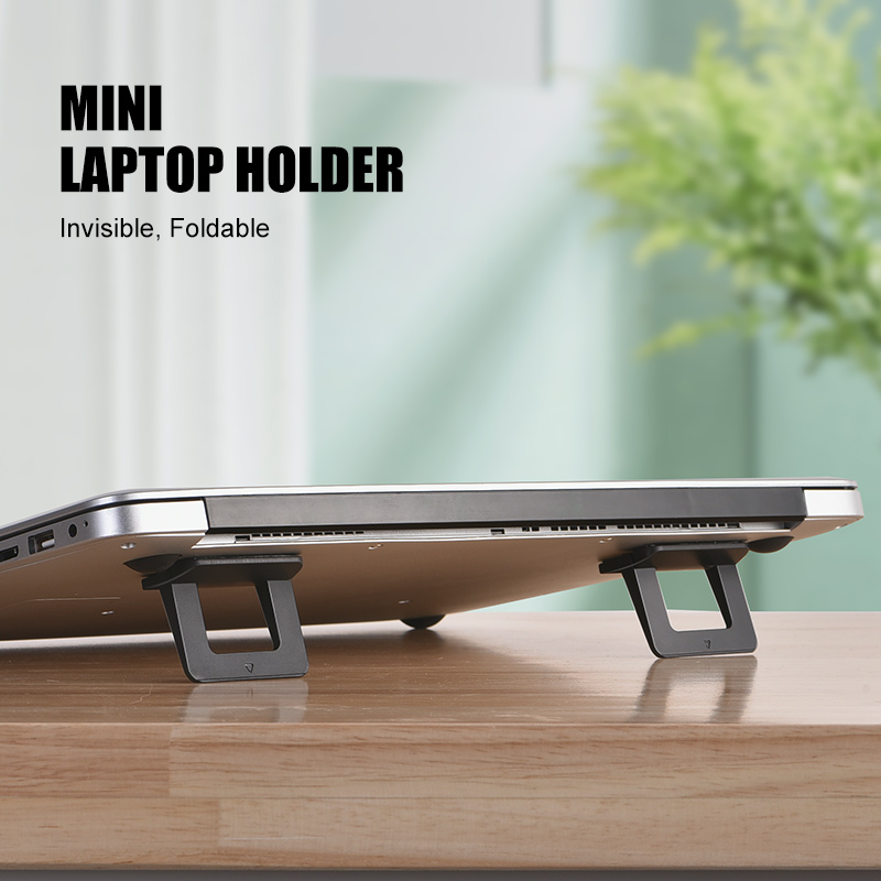 PADCOVER Universal PC Material Adjustable Thermal Non-slip Laptop Stand, Foldable Portable Notbook Stand