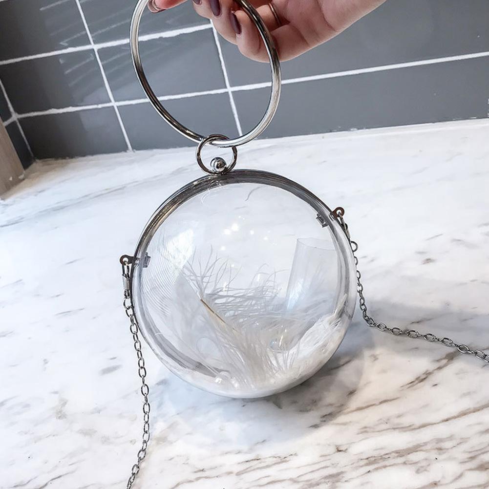 Mummy Maternity Nappy Bag Transparent Shoulder Packet Women's Handbag With Detachable Chain Strap Fashionable Messenger Pouch