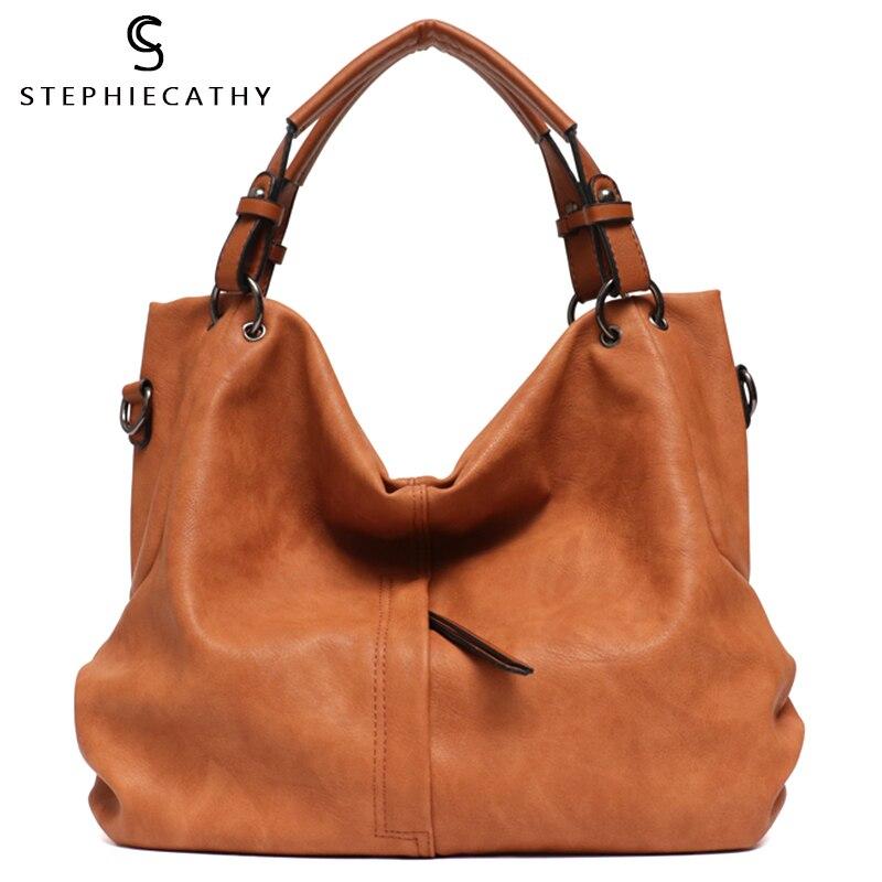 SC Big Casual Soft Tote Shoulder Bags for Women Large Vegan Leather Zipper Female Hobo High Quality Luxury Design Purses&Handbag