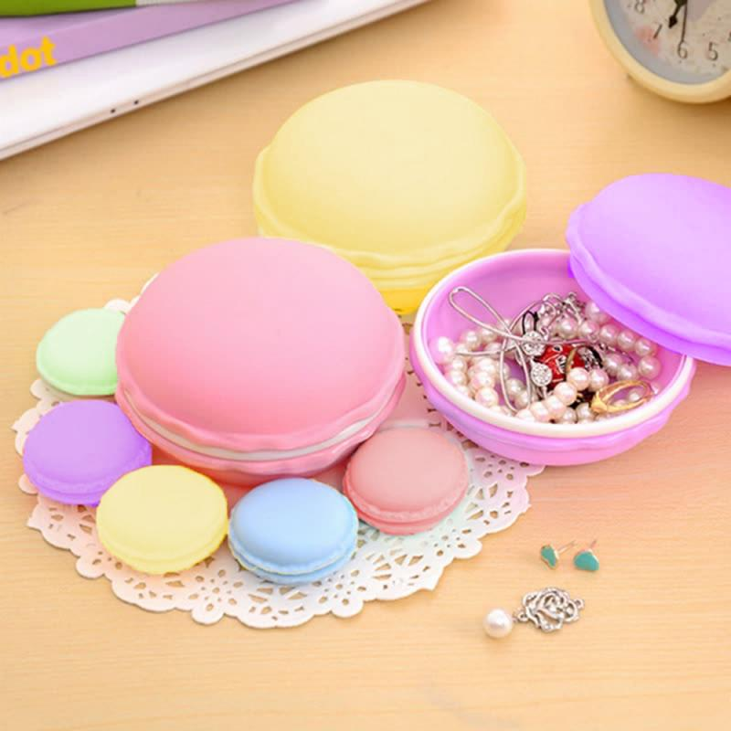 Ring Organizer Storage-Box Necklace Jewelry Carrying-Case Candy-Color Mini Cute Portable title=