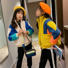 New 2019 Winter Thickened Patchwork Girls Coat Fashion Casual Kids Jack