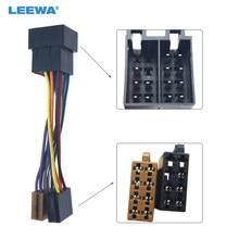 Leewa 10 conjunto fêmea universal para masculino carro estéreo rádio iso cablagem adaptador de chumbo # ca3687