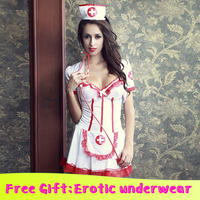 Sexy nurse cosplay costume set for Halloween party Boutique Sexo Erotic Nurse For Sex Sexi Lingeries Body Porn Erotic Lingerie
