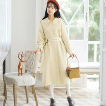 Vintage Harajuku Trench-coat Women Autumn long-sleeved Casual Solid Overcoat long-coat Streetwear Loose hip hop top Windbreaker серьги коюз топаз серьги т748027861