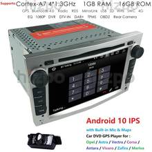 IPS 4G WIFI Android 10.0 2 DIN CAR GPS for opel Vauxhall Astra H G J Vectra Antara Zafira Corsa Vivaro Meriva Veda DVD Player BT(China)
