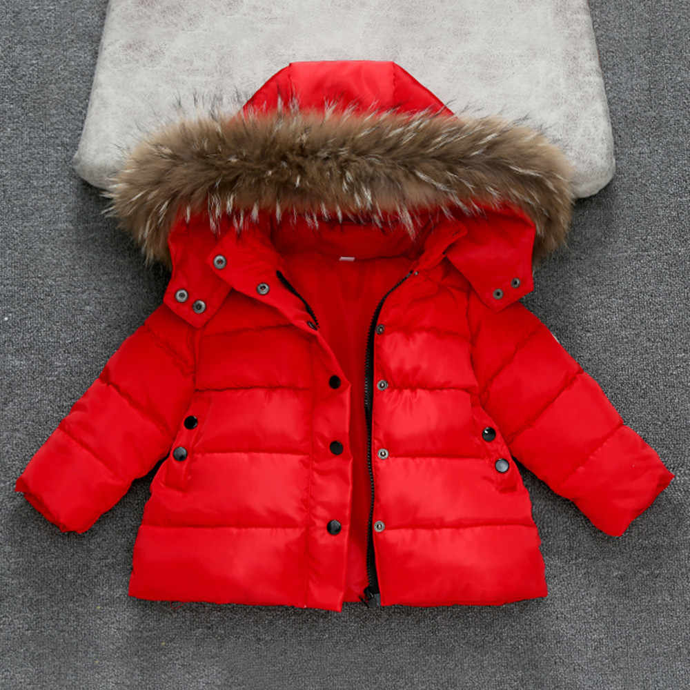 Solid Jacket Voor Meisjes Baby Meisjes Jongens Kids Down Jacket Coat Herfst Winter Warm Kinderkleding Dikke Uitloper Kinderen Jas