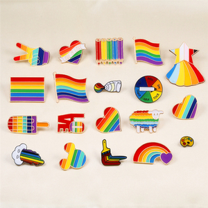 ЛГБТ дизайн Радужное сердце палец флаг эмаль булавки броши для геев, лесбиянок, Прайд значки пальто нагрудные булавки Love is love унисекс ювелир...