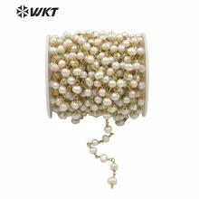 WT RBC032 WKT Wholesale New Arrival For Neckalce Chain Jewelry Freshwater Pearl Beads Chain Rosary Necklace Chain