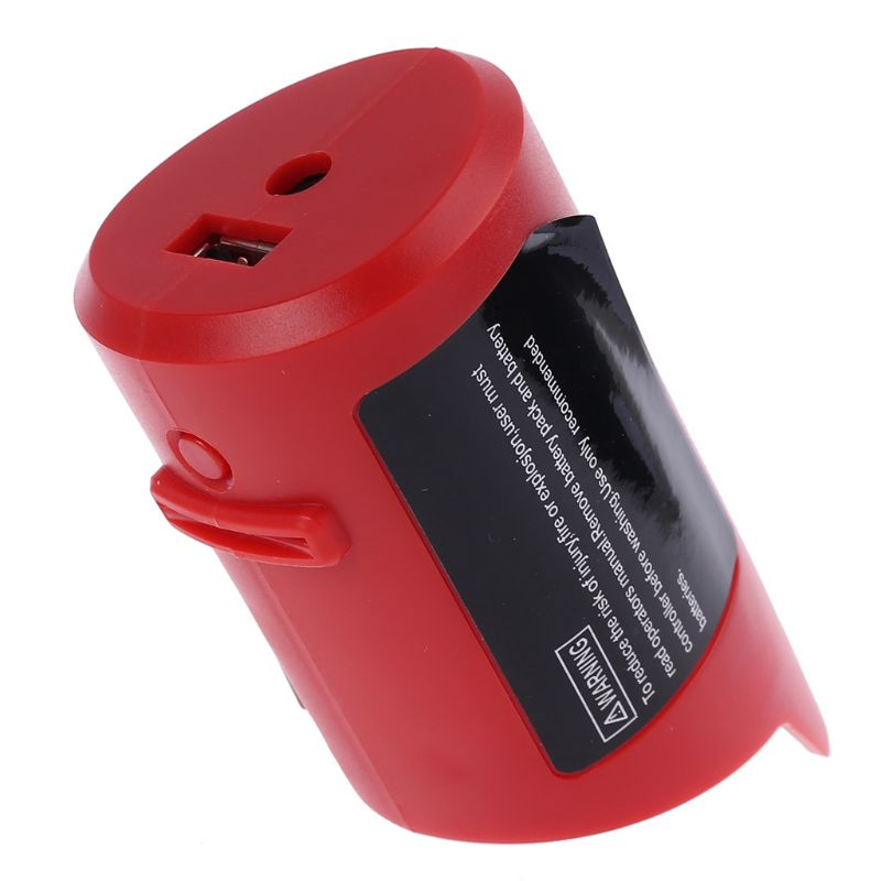 USB Charger Adapter Power Source For Milwaukee 49-24-2310 48-59-1201 M12 Battery