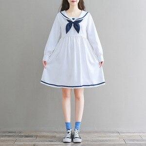 Женское платье с длинным рукавом Mori Girl, повседневное черное платье в стиле Лолиты, японское винтажное мини-платье размера плюс с милым сердц...
