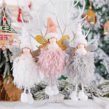 Nowy rok ozdoby choinkowe dla domu Xmas pluszowa lalka anioł choinka Home decor 2021 Navidad prezenty prezenty kerst tanie tanio XJZ-01 Bez pudełka christmas tree home decorations natal christmas ornaments decoracion hogar