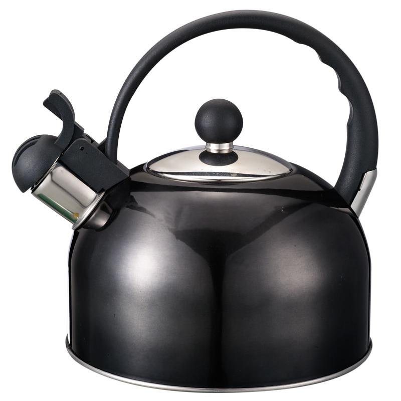 f/ácil de limpiar Adecuado para todas las estufas PITCHBLA Hervidor de t/é de silbato de acero inoxidable 3L Tetera de grado alimenticio con mango a prueba de calor Resistencia al calor y al /óxido