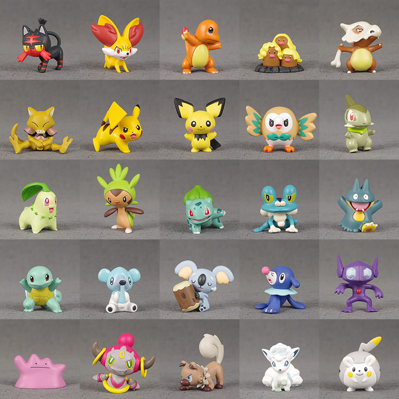28 Styles Pkm Action Figures Squirtle Charmander Bulbasaur Greninja Anime Figure Model Toy Gift For Kids