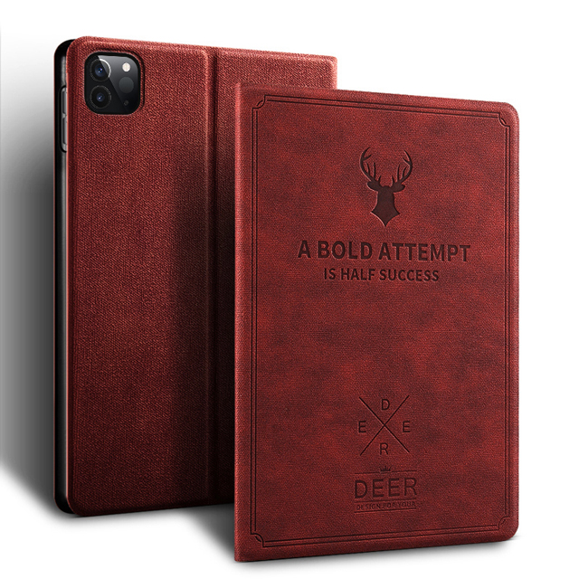 Wine Red Black Case for iPad Pro 11 2020 2nd Generation New Tablet Funda Slim Magnetic Stand PU Leather