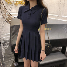 Girl Tennis Dresses Short Quick-drying Uniform Vestido Underwear Shorts High Waist Pleated Dress Badminton Cheerleader Clothing(China)
