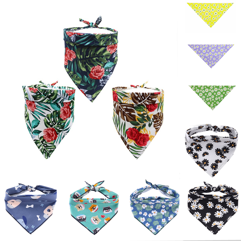 Dog triangular Scarf font b Pet b font Bandanas Decorative Collar Holiday Party Dog Neckerchief Washable
