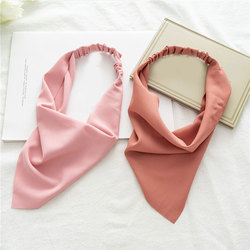 Solid Color Women Hair Bands Cute Fashion Headwrap DIY Turban Bandana Headscarf New Women Headband Bandana Elastic Band For Hair