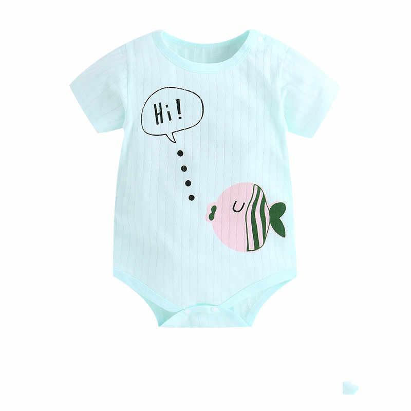 2019 nowa letnia dziewczynka ubrania Romper krótkim rękawem niebieski noworodka śpioszki dla niemowląt maluch dzieci stroje kostium dla dzieci dziewczyny Romper