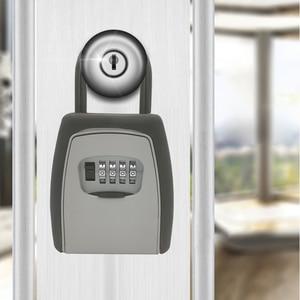 Image 5 - Keys Storage Wall Mounted Aluminum alloy Keys Safe Box  Weatherproof  Lock Outdoor Keys Safe Box Security Organizer Boxes