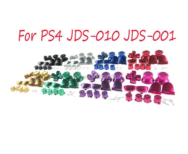 Для контроллера PS4 Dualshock 4 JDM001 JDM011, металлические пуговицы в виде пуль, thumbstick cap L1 R1 L2 R2 Dpad, алюминиевая пружинная кнопка