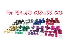 Voor PS4 Controller Dualshock 4 JDM001 JDM011 Douane Metal Bullet Knoppen thumbstick cap L1 R1 L2 R2 Dpad Aluminium Knop lente