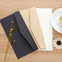 10-20pcs Formal Business Envelope Black White Craft Paper Envelope Mini Message Letter Stationary Card Scrapbook Mailing Bags
