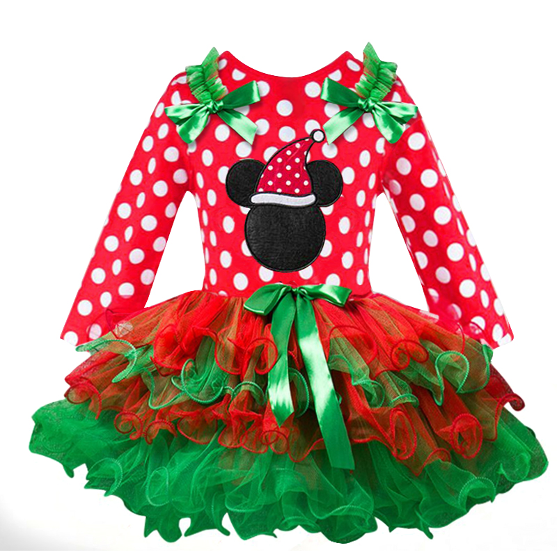 H0fc39748badc447b8ff0e23495fe1949z New Year Baby Girl Christmas Dress Girl's Merry Christmas Dress Children Kids Cotton Dot Dress Girls Tutu Santa Clus Costume