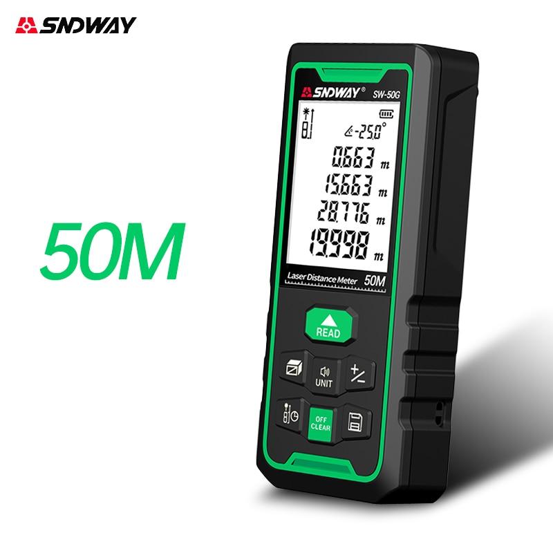 Лазер SNDWAY дальномер 100 м 70 м 50 м цифровой дальномер Trena лазерная рулетка измерительная рулетка инструмент