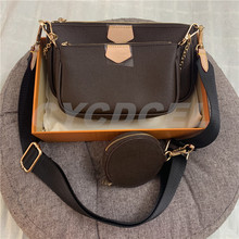 Top Quality !! 2020 New Mahjong Bag Fashion Women Three-Piece Messenger Bag MULT1 P00CHETTE ACCESS000RlES With Box Free Shipping