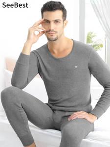 Seebest Thermal-Underwear-Set Inner-Wear Merino-Clothing Long-Johns Men Plus-Size Warm-Suit
