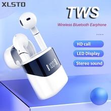 New TWS Bluetooth Earphone Wireless headphones Mini Pods Stereo Sports Sound Earbuds