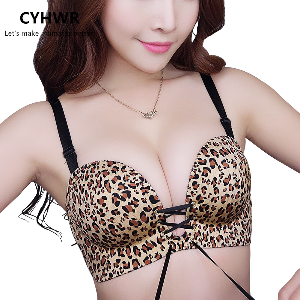 CYHWR Brassiere Padded Shoulder-Strap Two-Cups-Bras Push-Up Unlined Women for Detachable