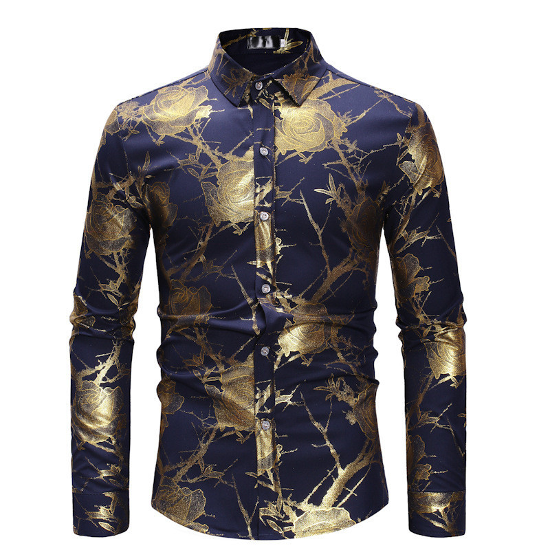 Men Dress Shirts Long Sleeve European And American Style Single Breasted Men Shirts Streetwear Spring And Autumn Shirt Male A404