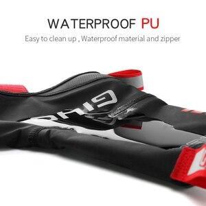 Image 3 - עמיד למים Windproof צמר רכיבה על אופניים כביש אופני מנעול נעלי מכסה תרמית אופניים רובוטים חורף כביש אופני נעלי כיסוי מגן
