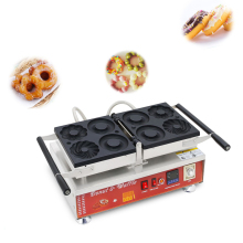 цена на Commercial Electric Nonstick 4 Shape Doughnut Baker Donut Maker Machine Heart Shape Breakfast Baking Waffle Iron CE